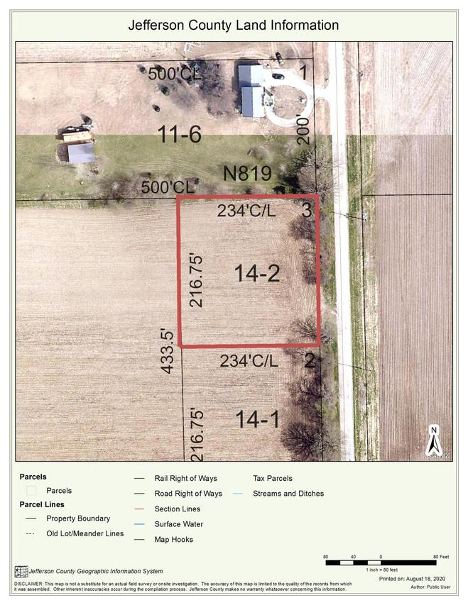 Lot 2 Howard Rd., Cold Spring, WI 53190