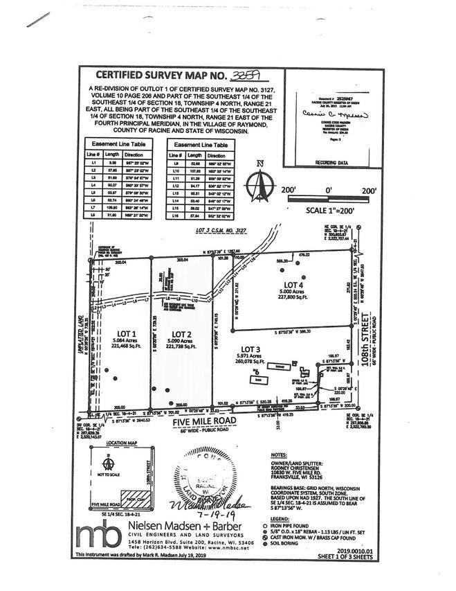 Lot #2 5 Mile Rd., Raymond, WI 53216