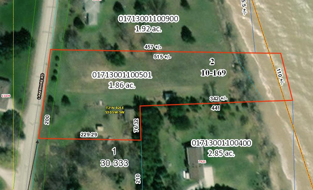 13105 Lakeshore Rd., Two Creeks, WI 54241